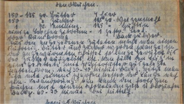 """Oma - Friede`s"" - Sandkuchen (Rzpt. um 1920) - Rezept - Bild Nr. 2015"