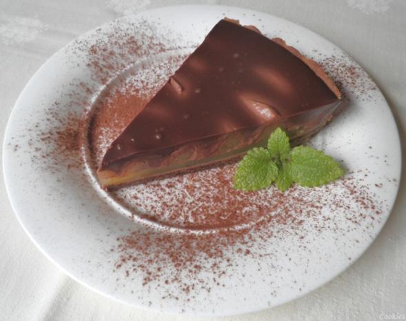 Schokoladen - Tarte ... mit Safranbirnen - Rezept - Bild Nr. 2043
