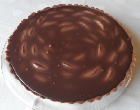 Schokoladen - Tarte ... mit Safranbirnen - Rezept - Bild Nr. 2044