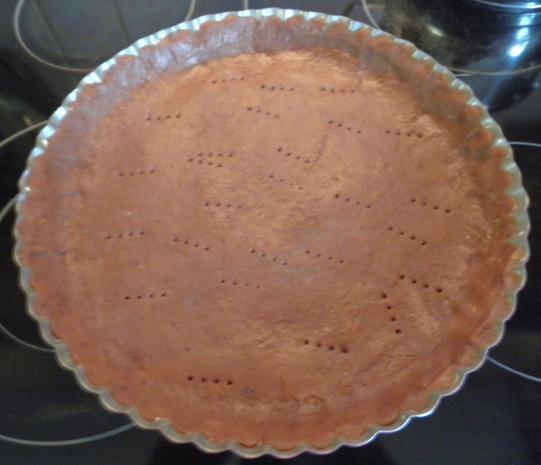 Schokoladen - Tarte ... mit Safranbirnen - Rezept - Bild Nr. 2048