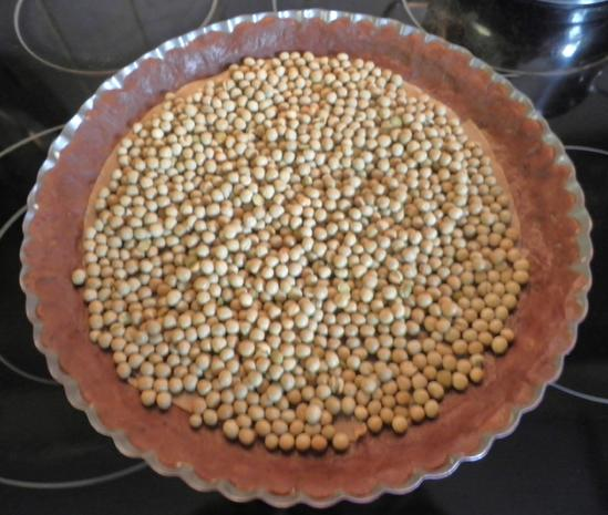 Schokoladen - Tarte ... mit Safranbirnen - Rezept - Bild Nr. 2049