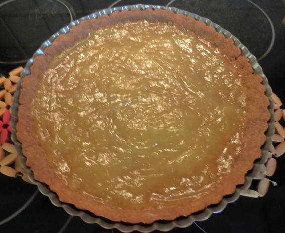 Schokoladen - Tarte ... mit Safranbirnen - Rezept - Bild Nr. 2057