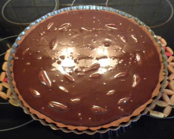 Schokoladen - Tarte ... mit Safranbirnen - Rezept - Bild Nr. 2062