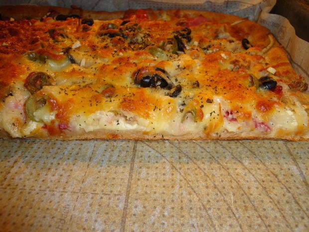 Bunte Pizza mit Quark- Öl-Teig pikant - Rezept - Bild Nr. 2043