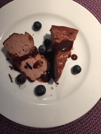 Protein Low Carb Schoko Blaubeer Käse - Kuchen (Low Calorie) - Rezept - Bild Nr. 2043