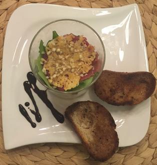 Carpaccio mit Parmesan-Chips und Rucola - Rezept - Bild Nr. 2043
