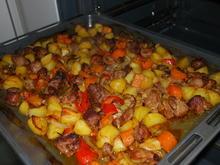 Putenschmorfleisch mit Gemüse vom Blech - Rezept - Bild Nr. 2050