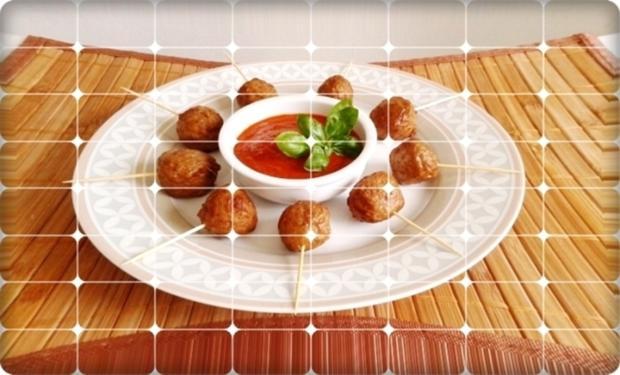 Mini Fleischbällchen am Spieß mit scharfer Tomatensauce - Rezept - Bild Nr. 2110