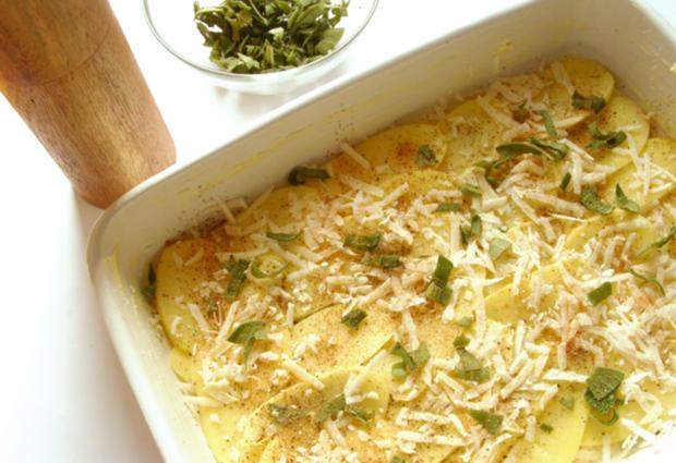 Kartoffel-Gratin mit Grana Padano und Salbei - Rezept - Bild Nr. 2177