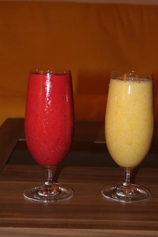 Smoothies in Gelb und Pink - Rezept - Bild Nr. 2185