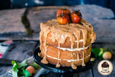 Rezept: Herbstliche Apfel-Karamell-Torte