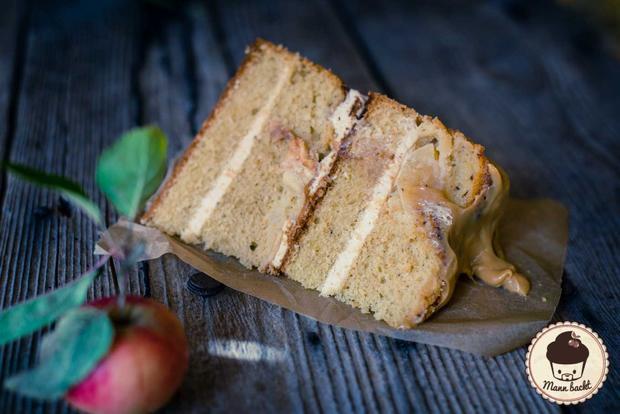 Herbstliche Apfel-Karamell-Torte - Rezept - Bild Nr. 2186