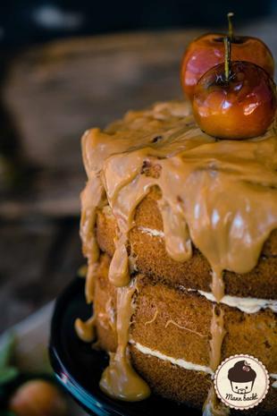 Herbstliche Apfel-Karamell-Torte - Rezept - Bild Nr. 2189