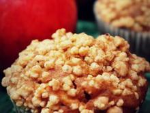 Kürbis-Apfel-Streusel-Muffins - Rezept - Bild Nr. 2189
