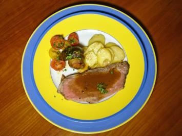 Roastbeef mit getrüffeltem Erdäpfelgratin und bordelaiser Gemüse - Rezept - Bild Nr. 2189