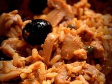 Thunfisch-Pesto-Kapern-Oliven-Reis; Mediterrane Reste-Pfanne - Rezept - Bild Nr. 2189