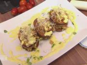 Kartoffelchips-Türmchen an Senfsößchen - Rezept - Bild Nr. 2318