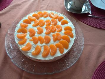 fruchtige Mandarinentorte mit Quarkcreme - Rezept - Bild Nr. 2351