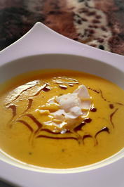 Einfache Kürbis-Suppe mit Frischkäse; mit Thermomix - Rezept - Bild Nr. 2395