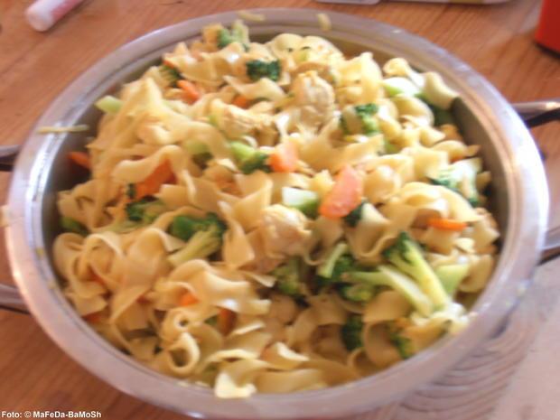 Nudelpfanne mit Brokkoli und Hähnchengeschnetzeltem - Rezept - Bild Nr. 2405