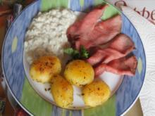Roastbeef mit Rosmarin-Kartoffeln und pikanter Remoulade - Rezept - Bild Nr. 2472