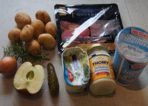 Roastbeef mit Rosmarin-Kartoffeln und pikanter Remoulade - Rezept - Bild Nr. 2473