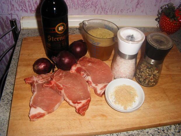 Kotelett mit karamellisierter Biersoße - Rezept - Bild Nr. 2473