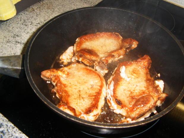 Kotelett mit karamellisierter Biersoße - Rezept - Bild Nr. 2475