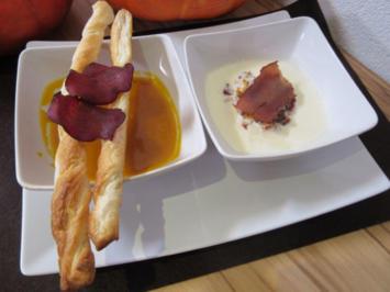 Süppchen mit Mostbröckli in zwei Varianten (Käse- und Kürbissuppe) - Rezept - Bild Nr. 2487