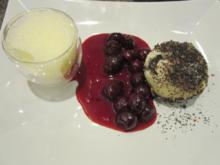 Mohnknödel mit Kirschen und Weinschaumcreme - Rezept - Bild Nr. 2487