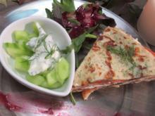Lachstorte an kleinem Gurkensalat - Rezept - Bild Nr. 2491