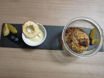 Bratapfel im Glas und cremiges Vanille-Eis - Rezept - Bild Nr. 2491