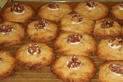 Walnusskekse mit weißer Schokolade - Rezept - Bild Nr. 2491