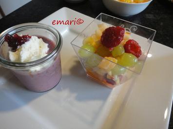 Cranberry Vanille Soja Dessert mit Chia Samen - Rezept - Bild Nr. 2834