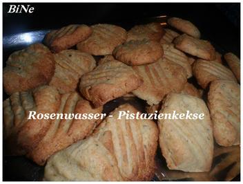 Rezept: BiNe` S ROSENWASSER - PISTAZIENKEKSE