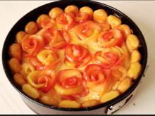 Apfelrosen Kuchen  mit Vanillecreme - Rezept - Bild Nr. 2749