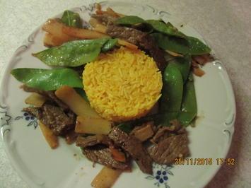 Rezept: Asiatisch: Rindfleisch mit Bambussprossen