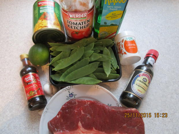Asiatisch: Rindfleisch mit Bambussprossen - Rezept - Bild Nr. 2752
