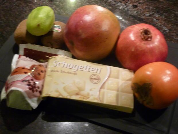 Mango-Nudeln mit Kiwi-Kaki und Granatapfel - Rezept - Bild Nr. 2760