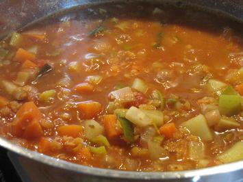 Marokkanische Gemüsesuppe mit roten Linsen - Rezept - Bild Nr. 2809