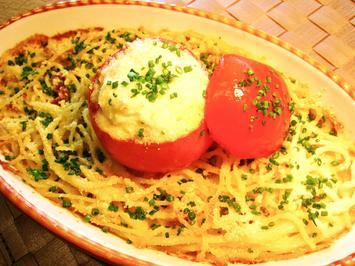 Nudelgratin mit einer gefüllten Tomate - Rezept - Bild Nr. 2807