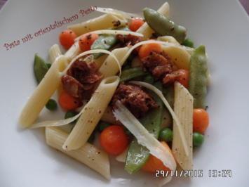 Pasta mit orientalischem Pesto - Rezept - Bild Nr. 2807