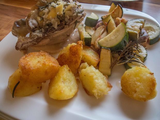 Knoblauch-Hähnchen mit mediterranem Gemüse - Rezept - Bild Nr. 2941