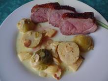 Entenbrust mit Honigglasur und Curry-Rosenkohl - Rezept - Bild Nr. 2875
