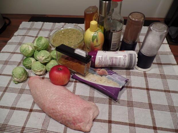 Entenbrust mit Honigglasur und Curry-Rosenkohl - Rezept - Bild Nr. 2876
