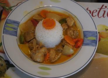 Hähnchenbrustfilet-Gemüse-Curry mit Basmatireis - Rezept - Bild Nr. 2893