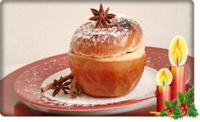 Gebackener  Apfel- gefüllt  mit Cranberry, Pflaumen und  Sultaninen - Rezept - Bild Nr. 2976