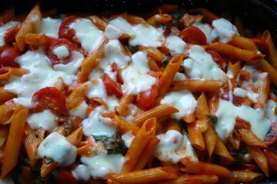 Nudelauflauf mit Tomaten und Mozzarella - Rezept - Bild Nr. 2981