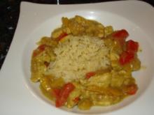 Bananen-Kokos-Hühnchen-Curry; exotisch, fruchtig, karibisch - Rezept