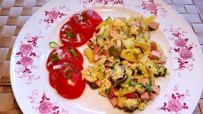 Rezept: Kartoffeln, Eier, Speck  ...